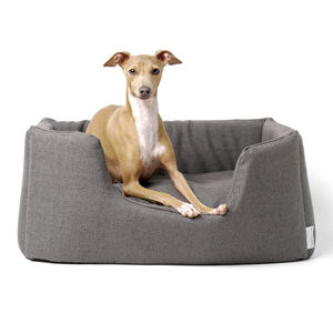 Luxury Deep Sided Dog Bed In Weave Fabric - dogs