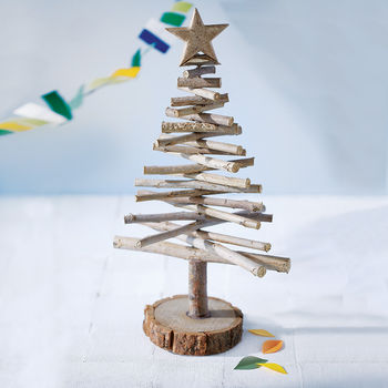Wooden Log Christmas Tree