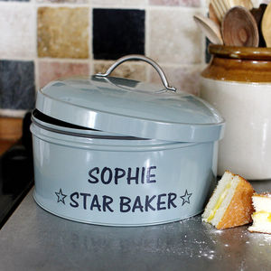 Personalised Cake Tin - gifts for her