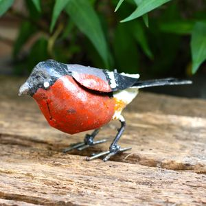 Handpainted Bullfinch Garden Sculpture - art & decorations