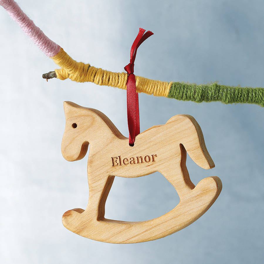 personalised rocking horse decoration