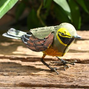 Handpainted Cirl Bunting Garden Sculpture - art & decorations