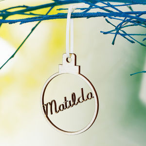 Personalised Wooden Name Bauble - tree decorations