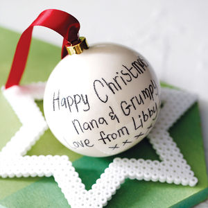 Personalised Ceramic Christmas Bauble - shop the christmas catalogue