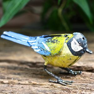 Handpainted Great Tit Garden Sculpture - art & decorations