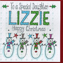 personalised Daughter Christmas Card Snowmen (TT988aP)