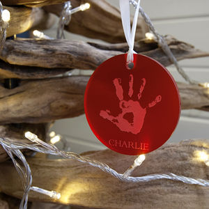 Bespoke Handprint Christmas Bauble