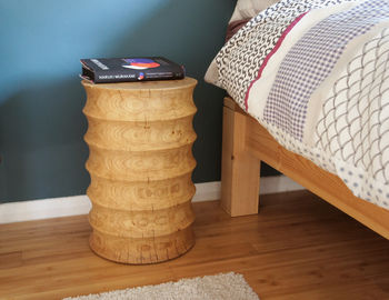 Oak Coved Side Table Or Stool