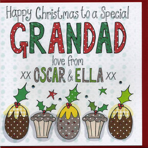Personalised Grandad Christmas Card - cards sent direct