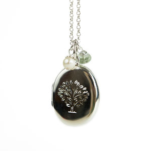 Large Silver Tree Locket Necklace - jewellery