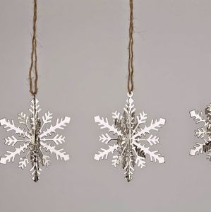 Set Of Four 3D Snowflake Decorations - view all decorations