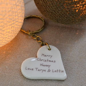 Personalised Christmas Keyring Gift