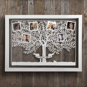 Large Personalised Friends Tree Photo Papercut