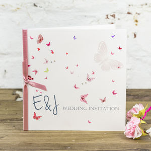 Papillon Wedding Stationery Collection - save the date cards