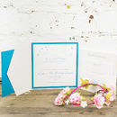 Papillon Pocket Fold Invitation
