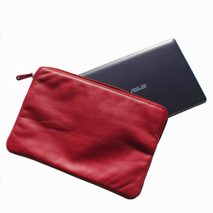 Personalised Leather Laptop Sleeve / Document Wallet