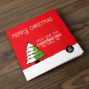 Grow Your Own Christmas Tree Christmas Card - cards