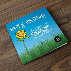 Grow Your Own Giant Sunflower Birthday Card - gardening