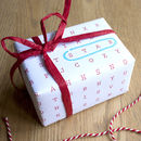 Word Search Wrapping Paper Christmas