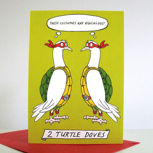'Two Turtle Doves' Christmas Cards - cards