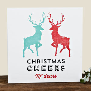 'Christmas Cheers M'dears' Card - cards, ribbon & wrap