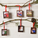 Personalised Polaroid Picture Christmas Decoration