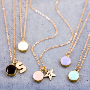 Mini Enamel Dot Necklace - personalised