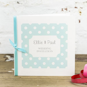 Dotty Wedding Stationery Collection - order of service