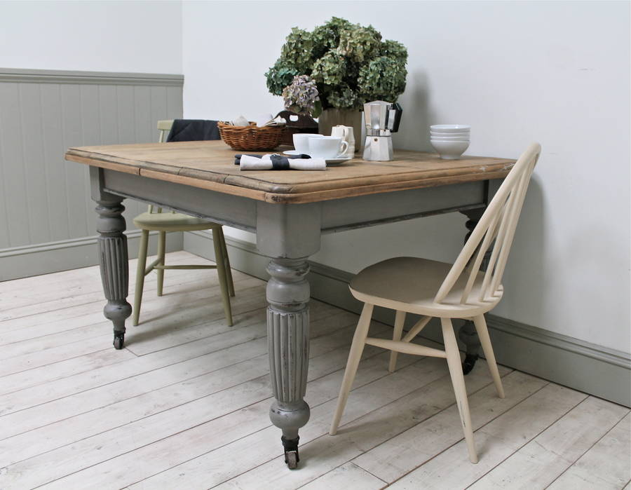distressed antique kitchen table by distressed but not ...
