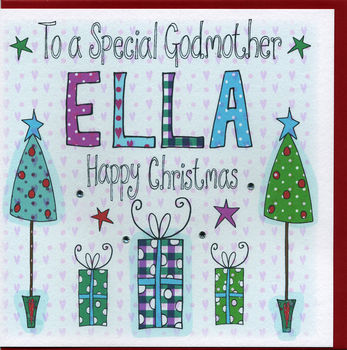 Personalised Godmother Christmas Card