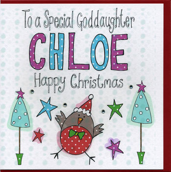 Personalised Goddaughter Christmas Card