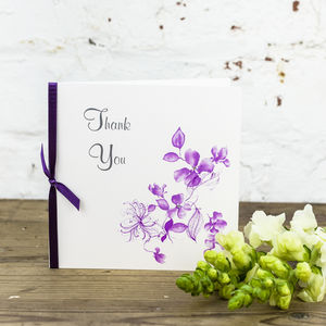 10 Personalised Sienna Thank You Cards - thank you cards
