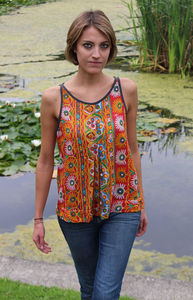 Indian Summer Racer Camisole Top - summer clothing