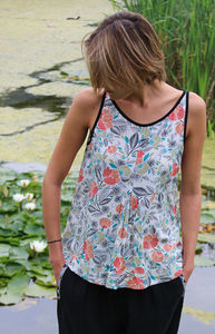 Japanese Garden Racer Camisole Top - tops & t-shirts