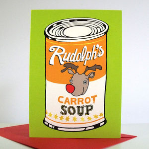 'Rudolph's Carrot Soup' Christmas Cards - cards & wrap