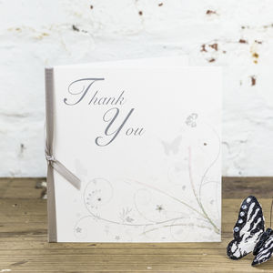 10 Personalised Wonderland Thank You Cards - wedding stationery