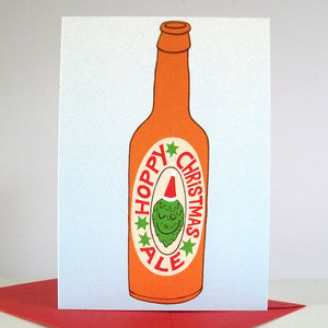 'Hoppy Christmas Ale' Christmas Cards - seasonal cards