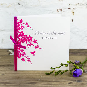 10 Personalised Hummingbird Thank You Cards - thank you cards