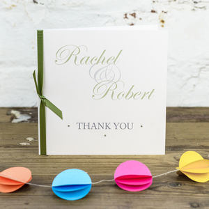 10 Personalised Kensington Thank You Cards - wedding stationery