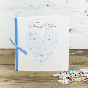 10 Personalised Ice Thank You Cards - wedding stationery