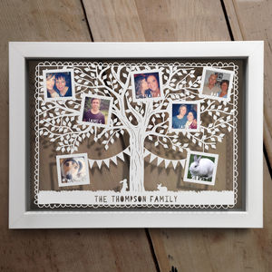 Personalised Family Tree Photo Papercut