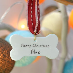 Dog's Personalised Christmas Decoration