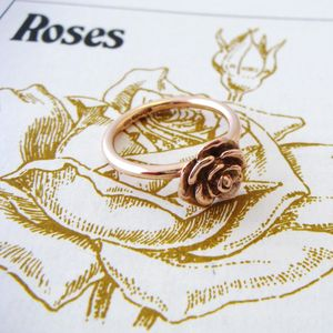 Gold Rose Ring - rings