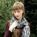 Grey Dragonfly Scarf