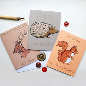 Woodland Birthday Cards