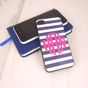Monogram Striped iPhone Case