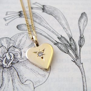 Gold & Diamond Heart Necklace - fine jewellery