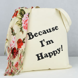 'Because I'm Happy' Shopping Bag