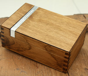 Personalised Wooden Cufflink Box - jewellery for men
