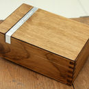 Personalised Wooden Cufflink Box